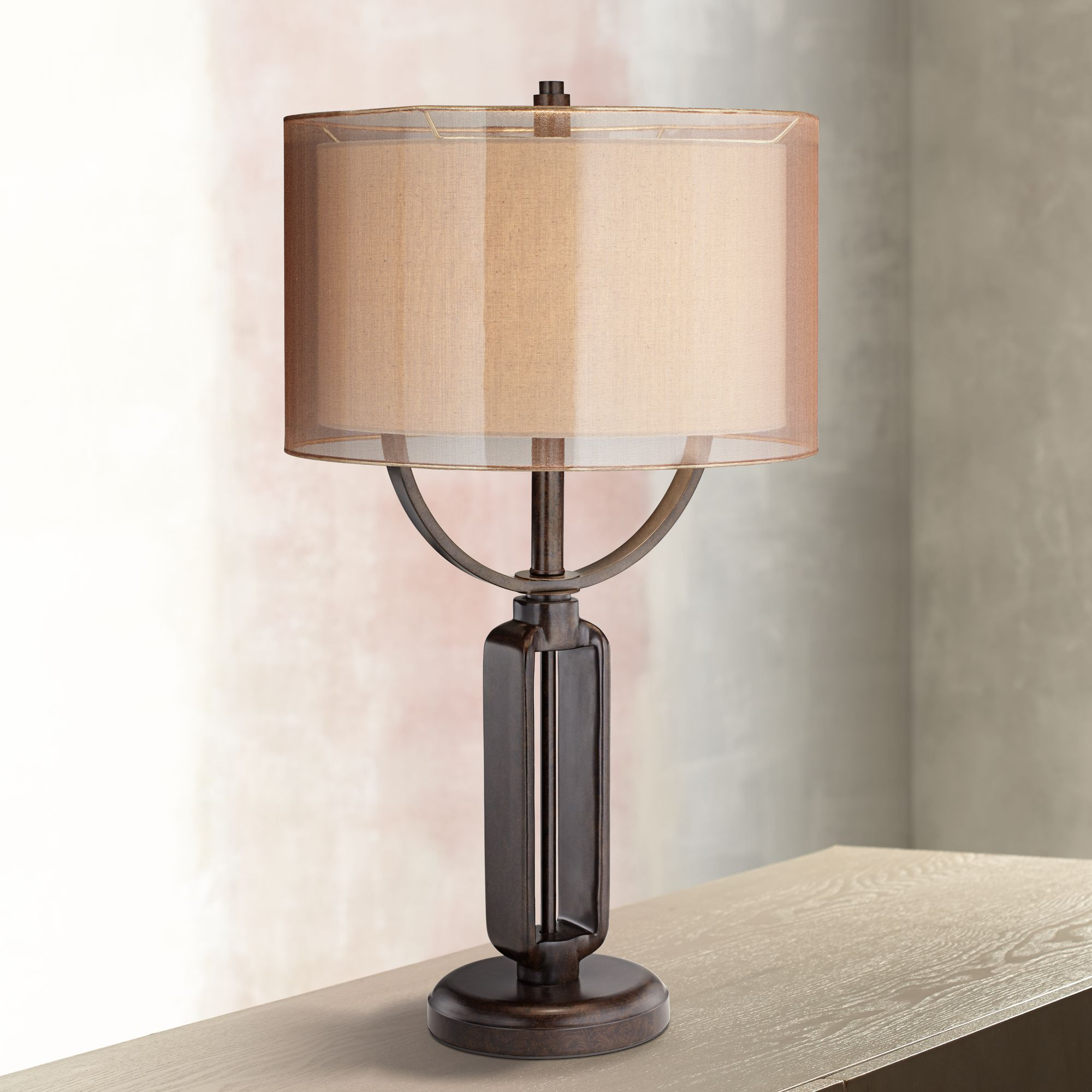 Superbe Franklin Iron Works Monroe Industrial Table Lamp