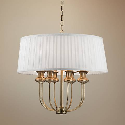 "Hudson Valley Pembroke 22"" Wide Aged Brass Pendant Light"