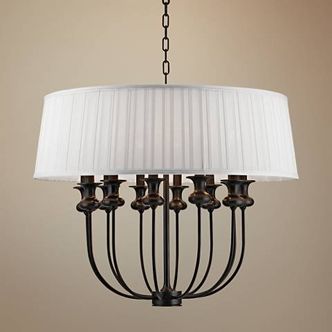 "Hudson Valley Pembroke 28"" Wide Old Bronze Pendant Light"