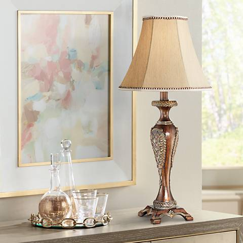 Hanna bronze candlestick table lamp 1f766 lamps plus hanna bronze candlestick table lamp aloadofball Image collections