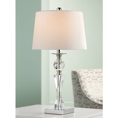 Julian Crystal Twist Column Table Lamp