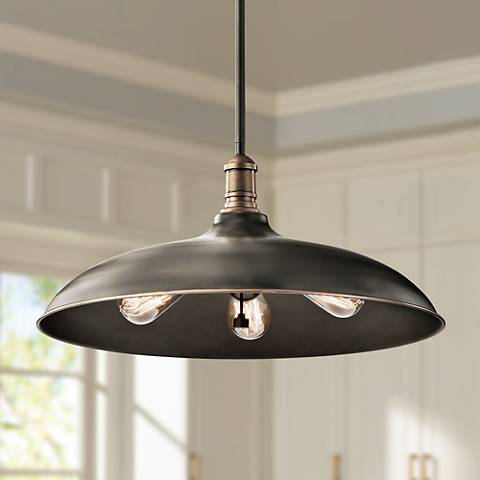"Cobson 20"" Wide Olde Bronze 3-Light Pendant by Kichler"