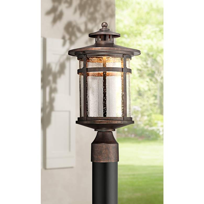 "Callaway 15 1/2"" High Rustic Bronze LED Outdoor Post Light"