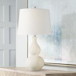 Fergie Cream Ceramic Table Lamp