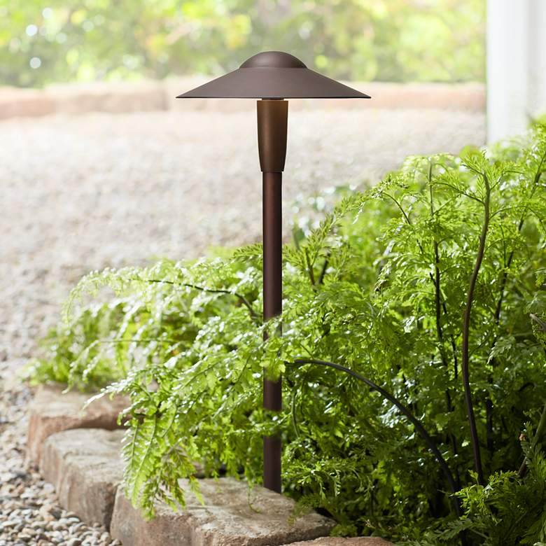"Kichler Landscape 22""H 2700K LED Bronze Dome Path Light"