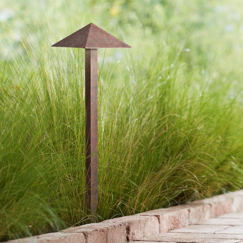 "Kichler 24"" High 2700K LED Bronze Pyramid Path"