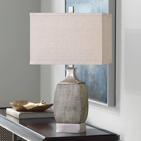 Uttermost Caffaro Textured Rust Bronze Ceramic Table Lamp