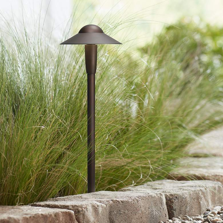 "Kichler 22"" High 2700K LED Bronze 6"" Dome Path Light"