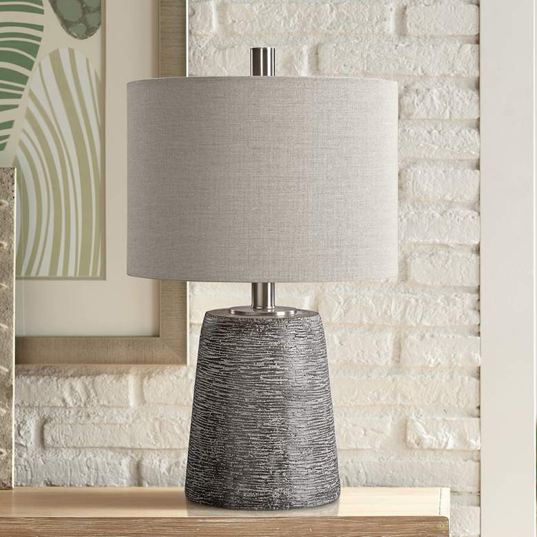 Uttermost Duron Dark Rustic Bronze Ceramic Table Lamp