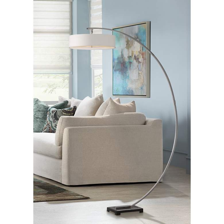 "Uttermost Tagus 81 1/2"" High Brushed Nickel Floor Lamp"