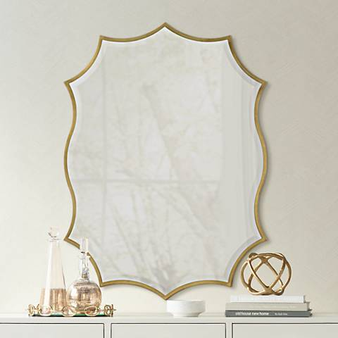 "Cooper Classics Cho Beveled 30"" x 40"" Gold Wall Mirror"