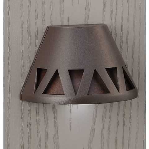 "Kichler Triangle-Cut 3 3/4""W Bronze 3000K LED Deck Light"