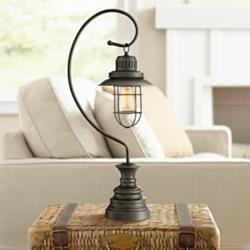 Ulysses Oil-Rubbed Bronze Industrial Lantern Desk Lamp