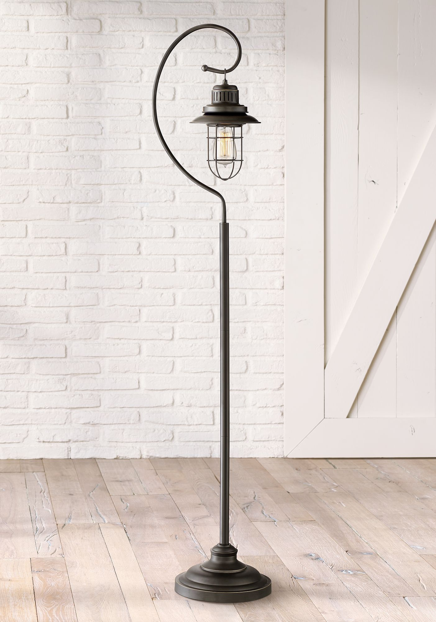 Awesome Ulysses Oil Rubbed Bronze Industrial Lantern Floor Lamp