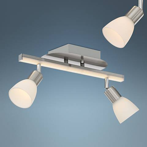 Pro Track® Wellston 2-Light Nickel LED Track Fixture