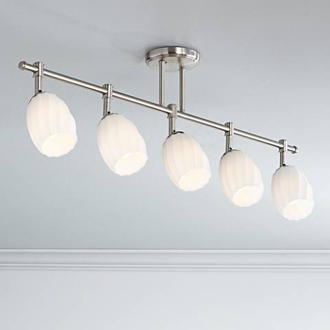 Pro Track® Brady 5-Light Satin Nickel Glass Track Fixture