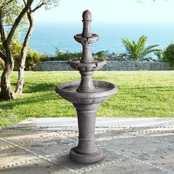 "Pisa 57 1/2"" High Fountain Faux Stone 3-Tier Water Fountain"
