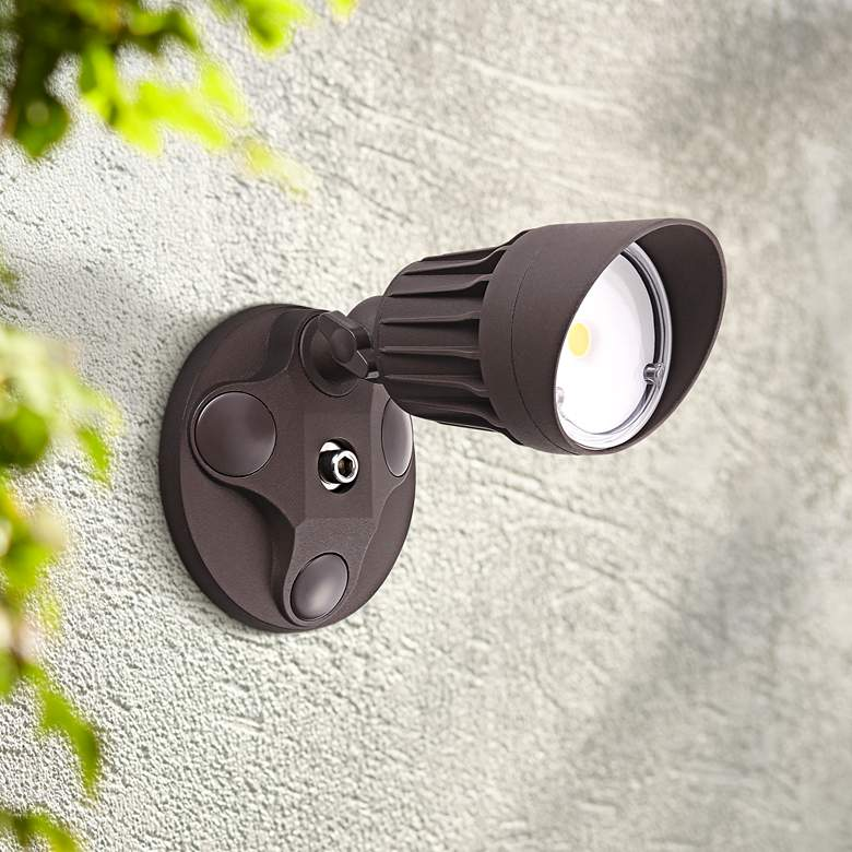 "Eco-Star 4 1/4"" Wide LED Security Flood Light"
