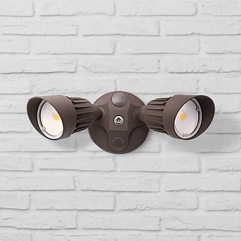 "Eco-Star 13"" Wide LED Security Flood Light in Bronze"
