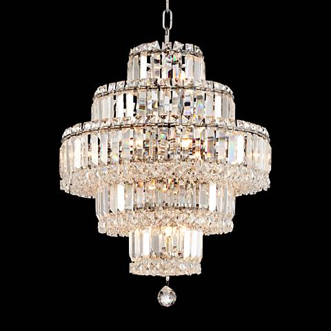 "Talitha 18 1/2"" Wide Chrome 18-Light Crystal Chandelier"