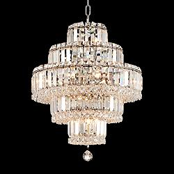 "Magnificence 18 1/2"" Wide 18-Light LED Crystal Chandelier"