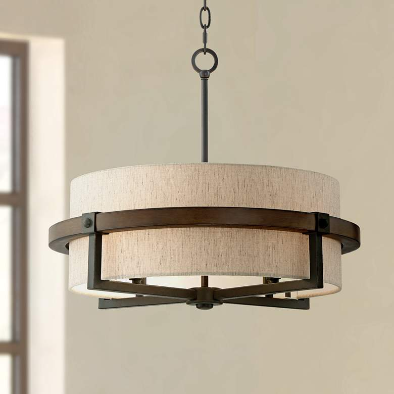"Castille 22"" Wide Bronze Pendant Light"