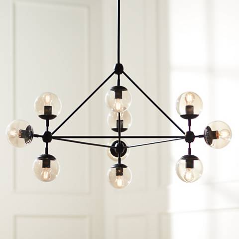 loading zoom town nbsp forge hub lighting new wide chandelier hubbardton