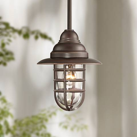 "Marlowe 11 1/4"" Wide Bronze Outdoor Mini Pendant Light"