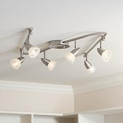 Pro Track Flex Rave LED 6-Light Satin Chrome Track Fixture