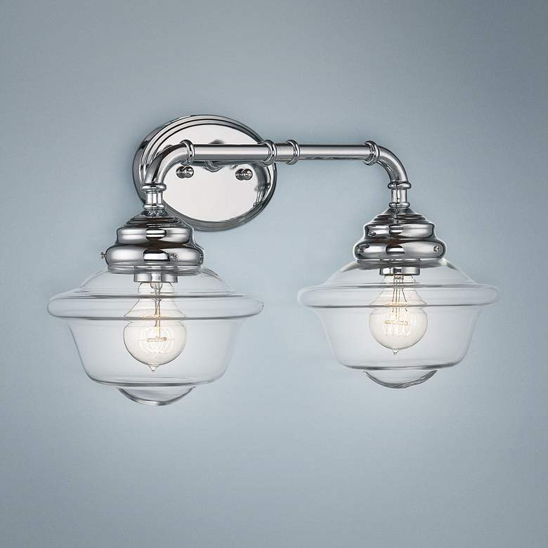 "Savoy House Fairfield 20""W 2-Light Chrome Bath Light"