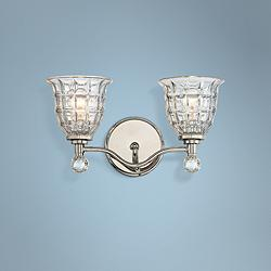 "Savoy House Birone 16""W 2-Light Polished Nickel Bath Light"