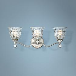 "Savoy House Birone 24""W 3-Light Polished Nickel Bath Light"