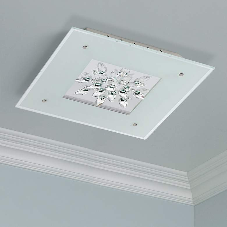 "Eglo Benalua 18 1/2"" Wide Crystal LED Ceiling"