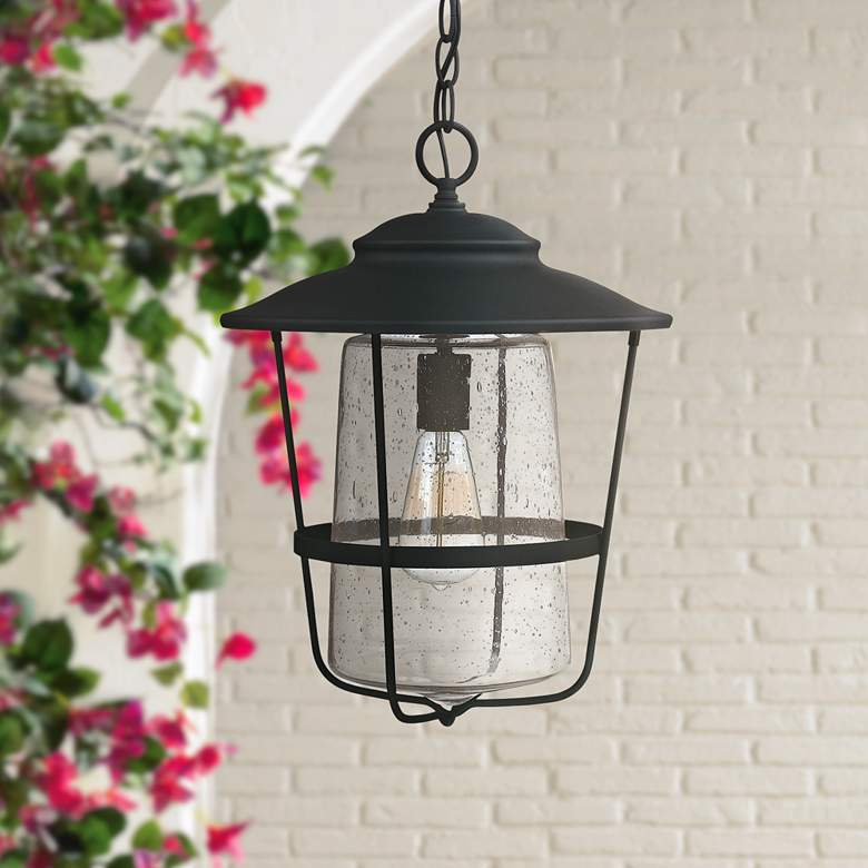 "Capital Creekside 17 1/2""H Black Outdoor Hanging Light"
