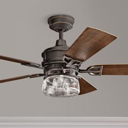 "52"" Kichler Lyndon Patio Olde Bronze Outdoor Ceiling Fan"