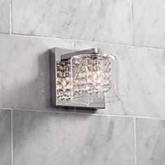 Contemporary Possini Euro Design Bathroom Lighting Lamps Plus