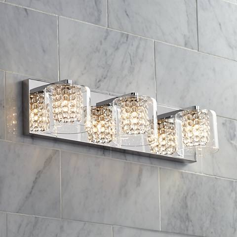 "Possini Euro Coco 3-Light 20 1/2""W Chrome Bath Light"