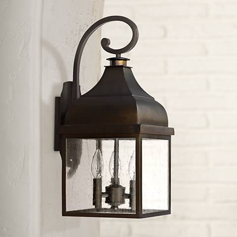 "Capital Westridge 20 1/4""H Old Bronze Outdoor Wall Light"