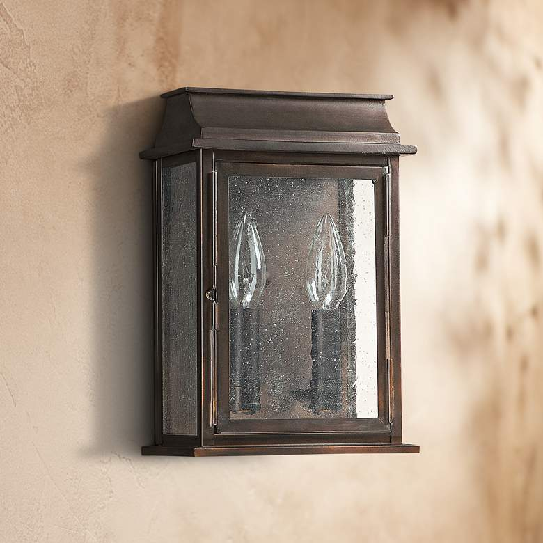 "Capital Bolton 11"" High Old Bronze Outdoor Wall Light"
