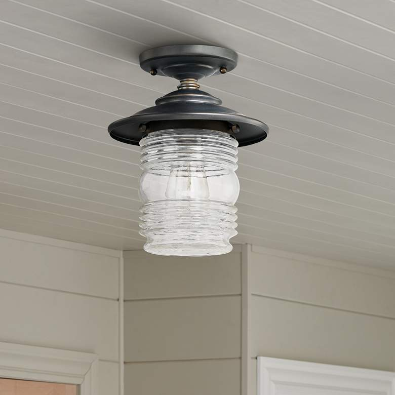 "Capital Creekside 8 1/4""Wide Bronze Outdoor Ceiling Light"