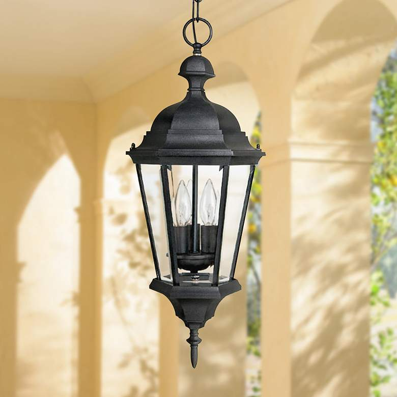 Carriage House 23 High Black Outdoor Hanging Light