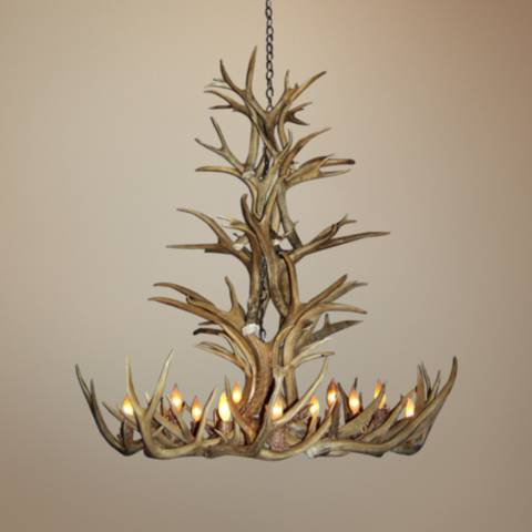 Mule Deer 35 Quot Wide 12 Light Natural Shed Antler Chandelier