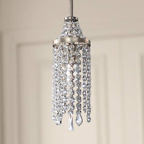 "Palais 5"" Wide Antique Silver Foil Mini Pendant Light"