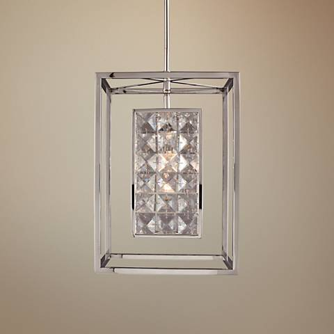 "Struttura 7 1/2""W Stainless Steel Geometric Mini Pendant"