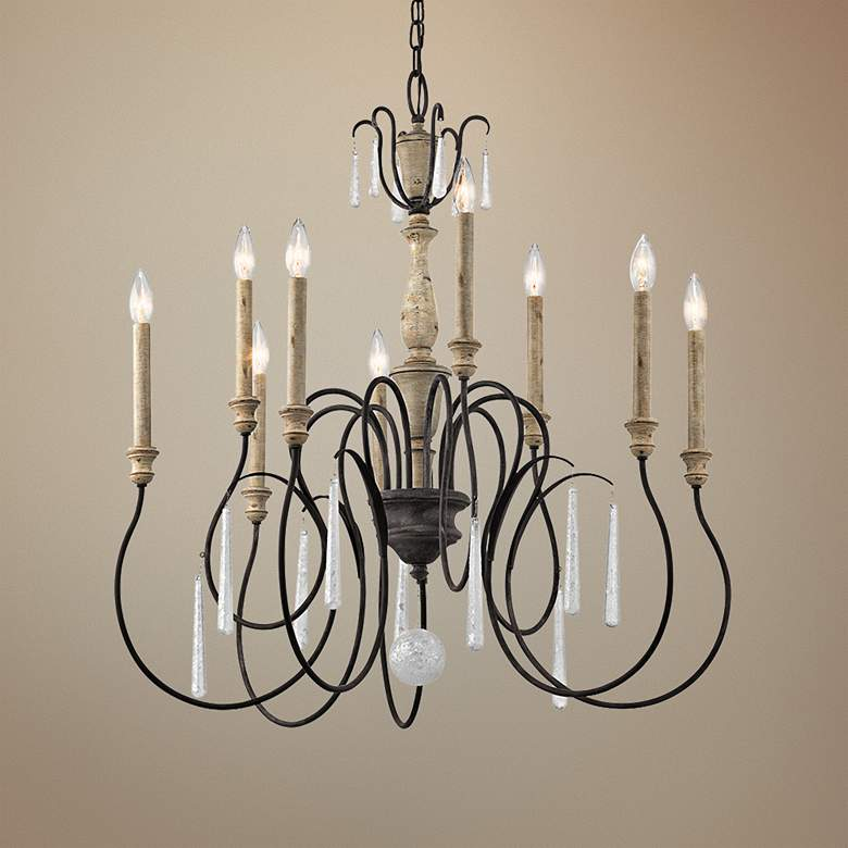 "Kichler Kimblewick 27"" Wide Zinc 9-Light Chandelier"