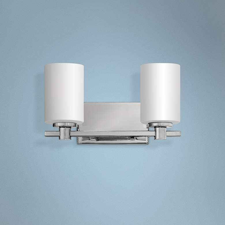 "Hinkley Karlie 7 1/2"" High Chrome 2-Light Wall"