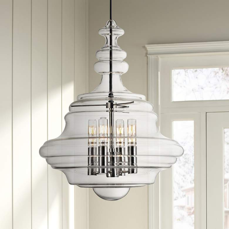 "Hudson Valley Washington 20"" Polished Nickel Pendant Light"