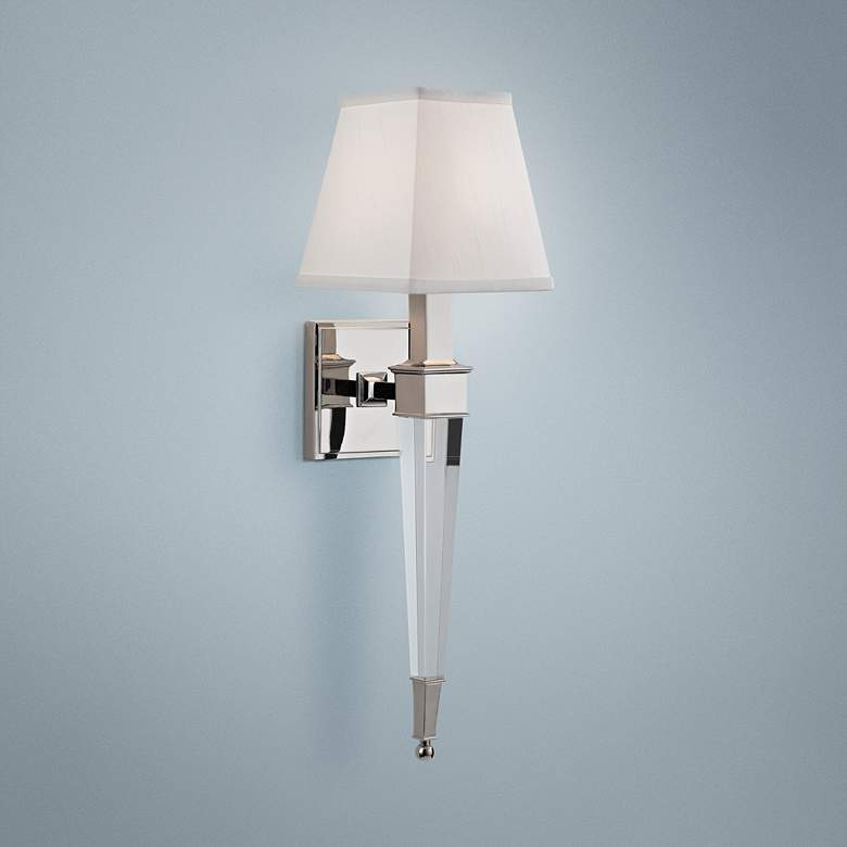 "Hudson Valley Ruskin 20 1/2""H Polished Nickel Wall Sconce"