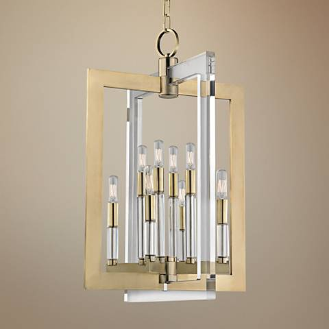 "Hudson Valley Wellington 17 1/2""W Aged Brass Pendant Light"