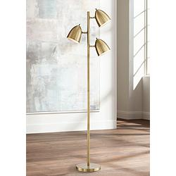 Aaron Aged Brass 3-Light Floor Lamp